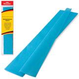 Цветная бумага крепированная BRAUBERG, стандарт, растяжение до 65%, 25 г/м2, европодвес, бирюза, 50х200 см