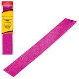 Цветная бумага крепированная BRAUBERG, металлик, растяжение до 35%, 50 г/м2, европодвес, розовая, 50х100 см