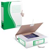 Папка архивная с завязками, микрогофрокартон, 75 мм, до 700 листов, плотная, зеленая, BRAUBERG