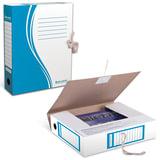 Папка архивная с завязками, микрогофрокартон, 75 мм, до 700 листов, плотная, синяя, BRAUBERG