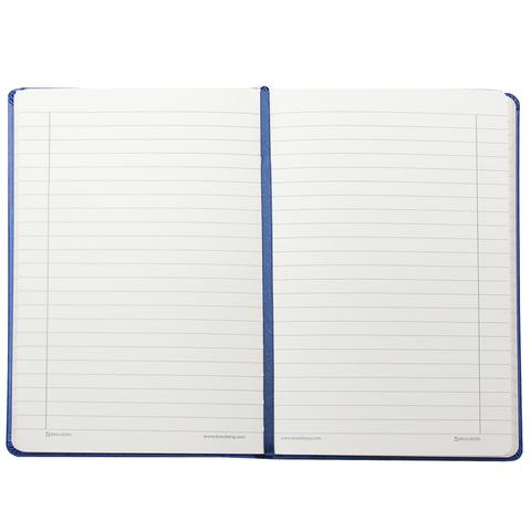 """Бизнес-блокнот BRAUBERG, А5, 148х218 мм, """"Feelings"""", кожзаменитель с тиснением, линия, 128 л., синий"""