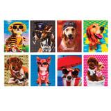 """Блокнот А7, 40 л., склейка, пластиковая 3D-обложка, BRAUBERG, """"Собаки"""", 8 видов в дисплее, 64х82 мм"""