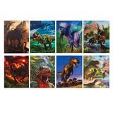 """Блокнот А7, 40 л., склейка, пластиковая 3D-обложка, BRAUBERG, """"Динозавры"""", 8 видов в дисплее, 64х82 мм"""