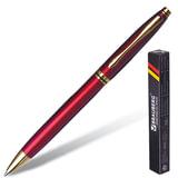 """Ручка бизнес-класса шариковая BRAUBERG """"De Luxe Red"""", корпус бордовый, золотистые детали, 1 мм, синяя"""
