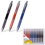 """Ручка бизнес-класса шариковая BRAUBERG """"Aura"""", корпус ассорти, серебристые детали, 1 мм, синяя"""