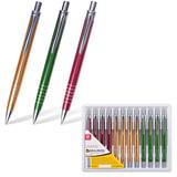 """Ручка бизнес-класса шариковая BRAUBERG """"Quantum"""", корпус ассорти, серебристые детали, 1 мм, синяя"""