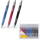 """Ручка бизнес-класса шариковая BRAUBERG """"Frost"""", корпус ассорти, серебристые детали, 1 мм, синяя"""