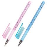 """Ручка шариковая BRAUBERG """"Узоры"""", корпус с печатью ассорти, узел 0,7 мм, линия 0,35 мм, синяя"""
