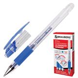 """Ручка стираемая гелевая BRAUBERG """"Number One"""", корпус прозрачный, узел 0,5 мм, линия 0,35 мм, синяя"""