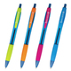 """Ручка шариковая масляная автоматическая BRAUBERG """"Fruity RG"""", грип, узел 0,7 мм, линия 0,35 мм, синяя"""