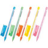 """Ручка шариковая масляная BRAUBERG """"Cell"""", детали ассорти, узел 0,6 мм, линия 0,3 мм, синяя"""