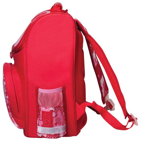 """Ранец жесткокаркасный BRAUBERG, для учениц начальной школы, """"Мишка"""", 20 литров, 38х29х16 см"""