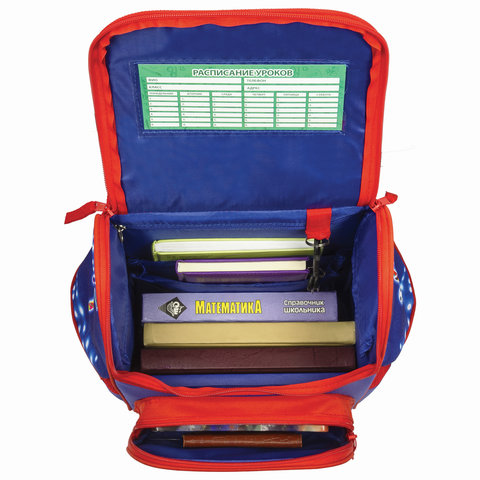 Ранец BRAUBERG STYLE c эргономичной спинкой, для мальчиков, Голкипер, 37х28х21 см
