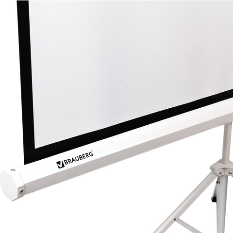 Экран проекционный BRAUBERG TRIPOD, матовый, на треноге, 150х150 см, 1:1