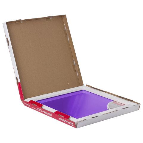 Доска магнитно-маркерная стеклянная, фиолетовая, 45х45 см, 3 магнита, BRAUBERG