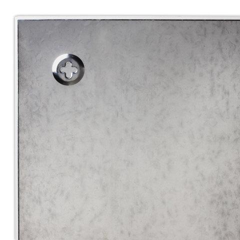 Доска магнитно-маркерная стеклянная, белая, 40х60 см, 3 магнита, BRAUBERG
