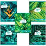 Тетрадь А5, 48 л., BRAUBERG, клетка, обложка картон, GREEN NATURE