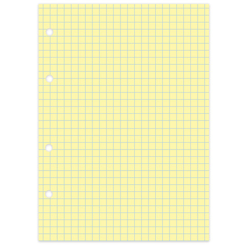 "Сменный блок к тетради на кольцах, А5, 80 л., BRAUBERG, ""Желтый"""