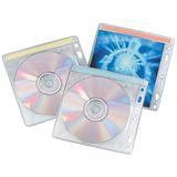 Конверты для CD/DVD BRAUBERG, комплект 40 шт., на 2 CD/DVD, износоустойчивая основа, европодвес